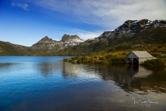 Dove Lake and Boat Shed, Cradle Mountain, TAS